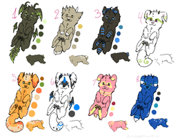 Free Baby canine derg adopts 4 :closed: by Yumisnax