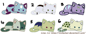 Kitty Adoptables (Open) by Nzgirl389