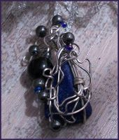 Vines at Midnight Wire Wrap Pendant by balthasarcraft