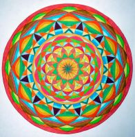 Harmony of life mandala by Aneniko