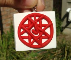 New and improved Alphonse Elric Blood seal charm by FullmetalDemigod
