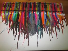 My first crayon art project by ColorfulCrayonArt