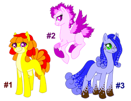 Adoptables Set 1 *Closed* by DayDreamerPony