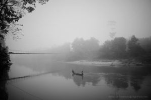 Wading through rivers fog by SigitPutraSolo