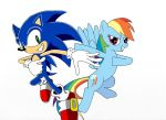 Sonic and Rainbow Dash by LightDegel