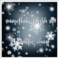 snowflake brushes by dollfie-chan