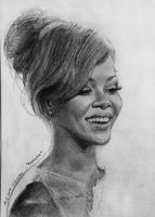 Rihanna small drawing by MissRoxyMFC