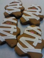 Mummy Costume Cookies by eckabeck
