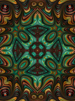 Trippy Fractal Kaleidoscope 2 by Kaleiope-Studio