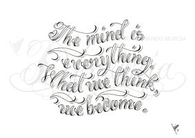 The mind is... lettering by dfmurcia