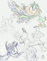 Sketches 12/21/13 by dogatemyshrooms