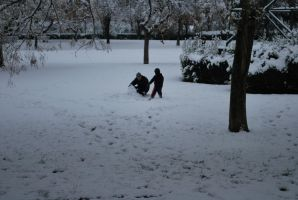 Father and Son in the snow. by ImmortalEmotion