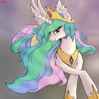 Princess Celestia by Bloodkiaser923