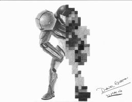 Void of color Samus by Mercurian