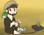 Jontron and Jacques by pkstarst0rm