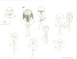 Awesome Star Wars Stickfigures by CrazyInsaneJess