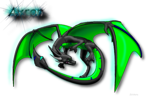 Avron The Dragon - 3D - Frosty Logo by Kelskora