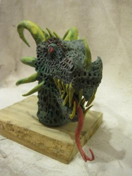 Modeling Clay Dragon bust 2 by angrygerman30166
