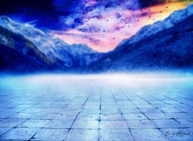 Mountains And Path Premade Bg I By Starscoldnight- by EmyRetouch