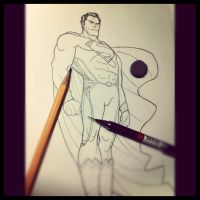 Another Pencil Round for Kal-El by BongzBerry