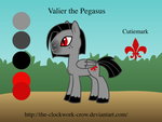 Valier The Pegasus Refsheet by The-Clockwork-Crow