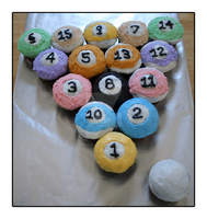 Pool Ball Cupcakes by Fresh-Eye-Candy