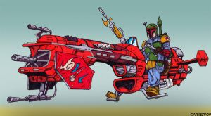 Boba Fett Swoop Bike by VectorAttila