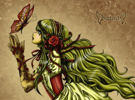 Butterfly Rose  .:Collab:. by PenthesileiaRavyn
