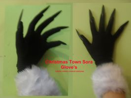 sora christmas town gloves by LeSaVy
