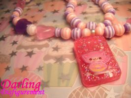 Cheshire cat necklace by leggsXisXawsome