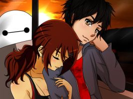 [A.T with Asakichi] Magdalena and Hiro (and Baymax by MusaAndStellaOcs