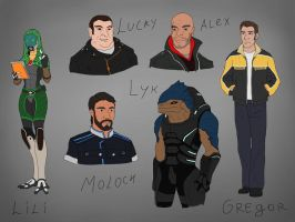 OC characters by spaceMAXmarine