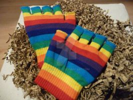 Rainbow gloves by engineerJR