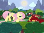 Request - Giant Fluttershy by Bratzoid
