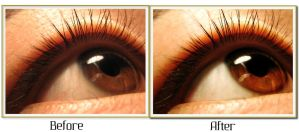 Retouch: Eye before + After by TheWorldIsTooSmall