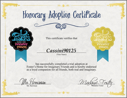 FHFIF Honorary Adoption Certificate by Cassini90125