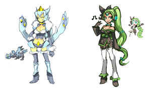 Kyurem and Meloetta Adopted Adoptables by SergeantGrif