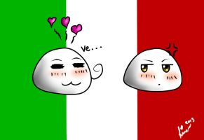 Italy and Romano Mochi by Linanae1