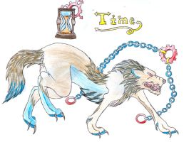 Wolf with Time by catdemon1312