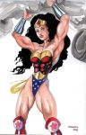 Wonder Woman in action by Dracowhip