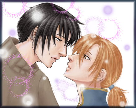 Korn and Hikyo the kiss by P-the-wanderer