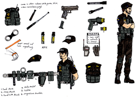 police character sheet by halonut117