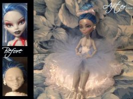 Monster High doll Ghoulia Yelps  repaint Customize by Katerina-Art