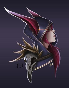 Xayah the Rebel fanart by DrawingisLife92