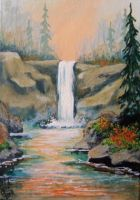 ACEO Woodland Waterfall #2 by annieoakley64