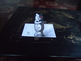 Monokuma - 3D Drawing on Paper by XenNa-Scarlet