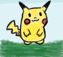 Just a pikachu. by SuperBomb-Omb