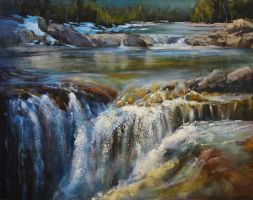 Elbow Falls By Bragg Creek by artistwilder
