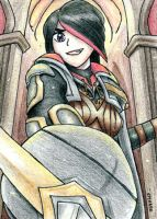Fiora Sketch Card by geardrafter