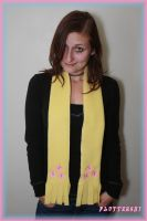 My Little Pony Fluttershy inspired scarf by PrimmRose